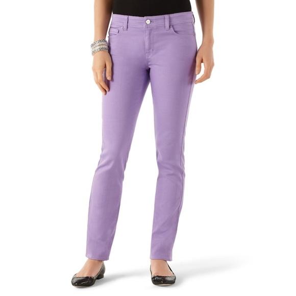 White House Black Market Denim - White House Black Market Lilac Slim Ankle Jeans